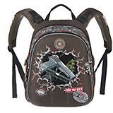 Рюкзак школьный Grizzly, хаки