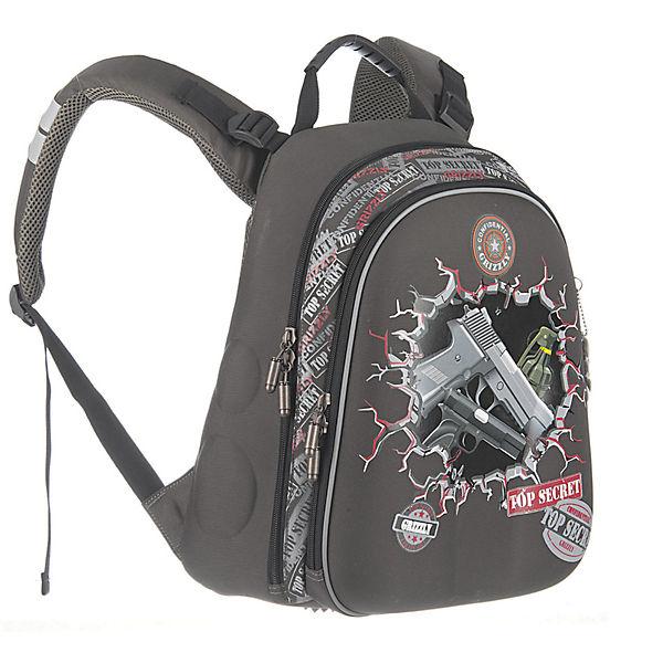 Рюкзак школьный Grizzly, темно-серый