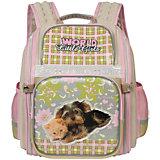 Рюкзак школьный Grizzly, бежевый