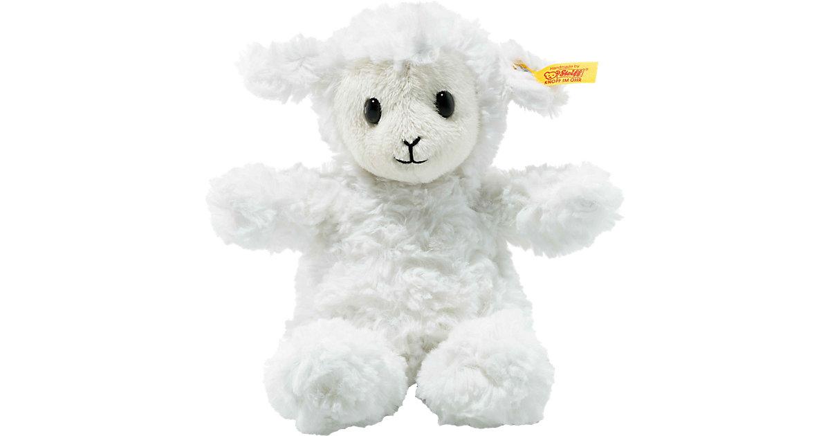 Soft Cuddly Friends Lamm Fuzzy weiß, 18 cm