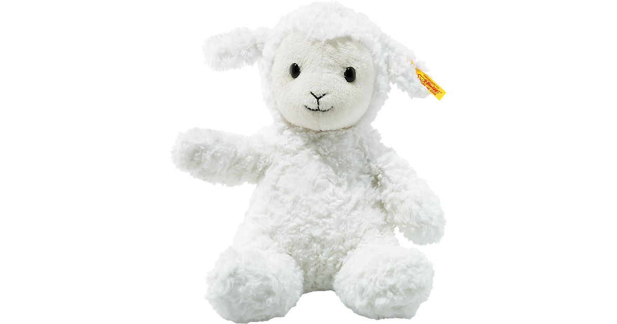 Soft Cuddly Friends Lamm Fuzzy weiß, 28 cm