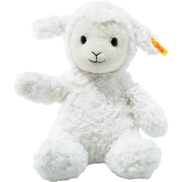 Soft Cuddly Friends Lamm Fuzzy weiß, 28 cm