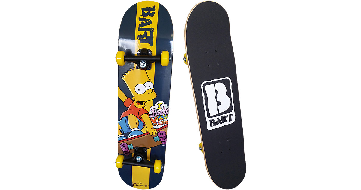 Simpsons Bart Skateboard, schwarz