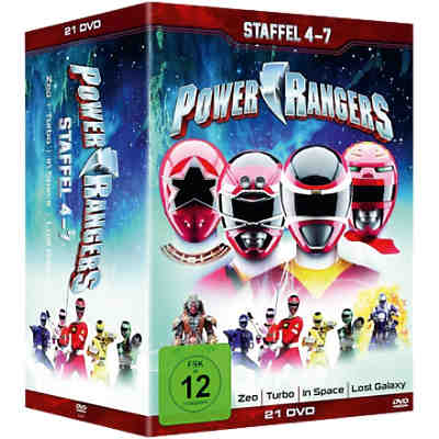 DVD Power Rangers - Staffel 4-7 (21 DVDs)