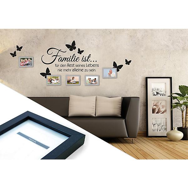 wandtattoo familie mit 5 bilderrahmen mytoys. Black Bedroom Furniture Sets. Home Design Ideas