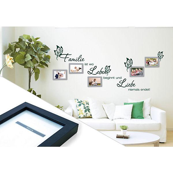 wandtattoo familienleben mit 5 bilderrahmen mytoys. Black Bedroom Furniture Sets. Home Design Ideas