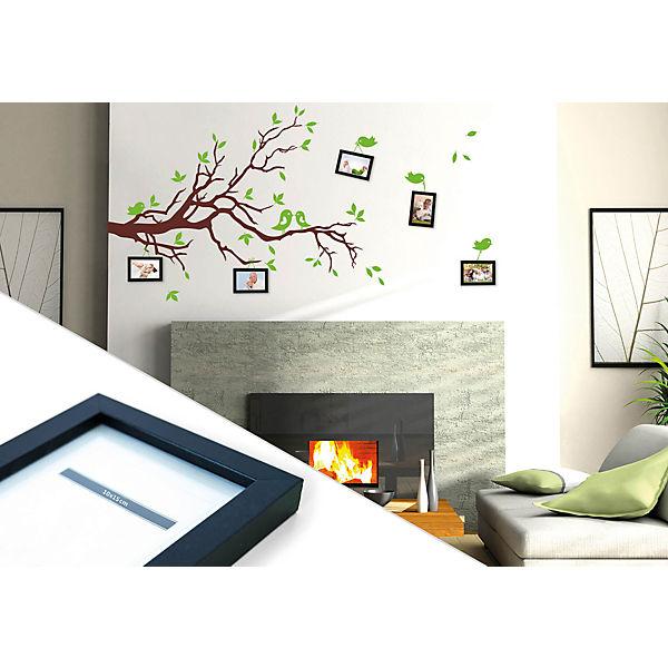 wandtattoo vogelp rchen im baum mit 5 bilderrahmen mytoys. Black Bedroom Furniture Sets. Home Design Ideas