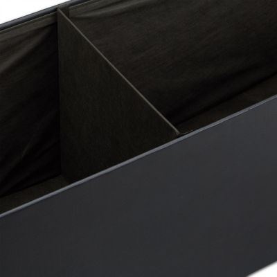 Faltbare Sitzbank aus Kunstleder schwarz