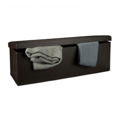Faltbare Sitzbank aus Kunstleder braun