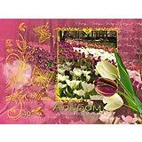 Альбом-планшет для рисования на гребне 40 листов, обложка  с тиснением фольгой. Обложка Май