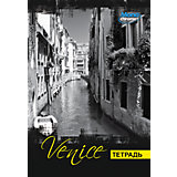 Общая тетрадь  А4, 96 листов, клетка, на гребне, обложка Венеция