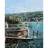 Живопись на холсте 40х50см Изола-Белла на озере Лаго-Маджоре Белоснежка
