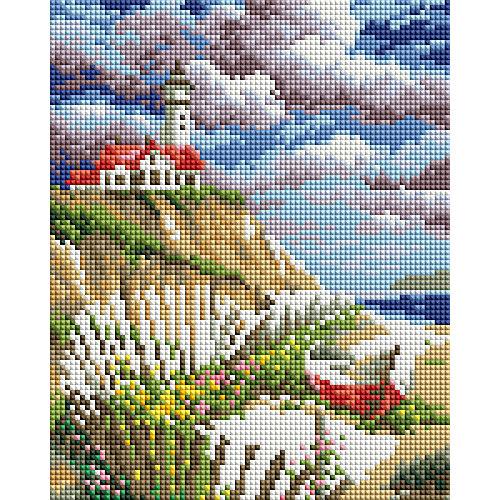 Мозаичная картина на холсте 20х25см Берег Белоснежка от Белоснежка