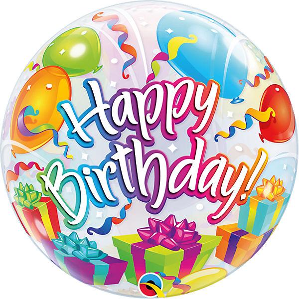 Luftballon Bubble Balloon Geburtstagsgeschenk Happy Birthday