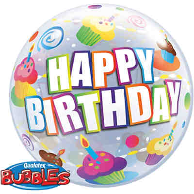 Luftballon Bubble Balloon Cupcake Happy Birthday