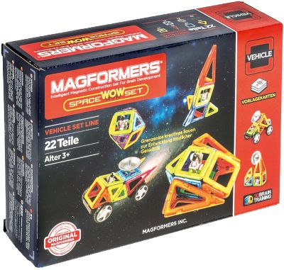 Magformers Creator Space-Set 22T + Räder + Antennen, MAGFORMERS