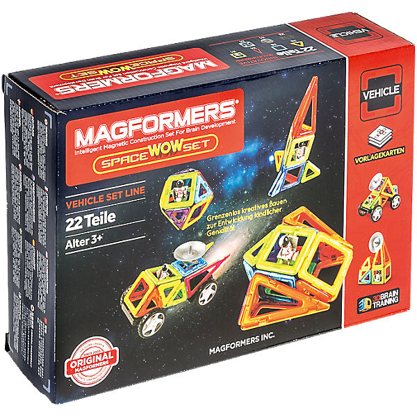 Magformers Creator Space-Set 22T + Räder + Antennen