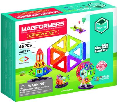 Magformers Creator Carnival Set 46T + Booklet 3+, MAGFORMERS