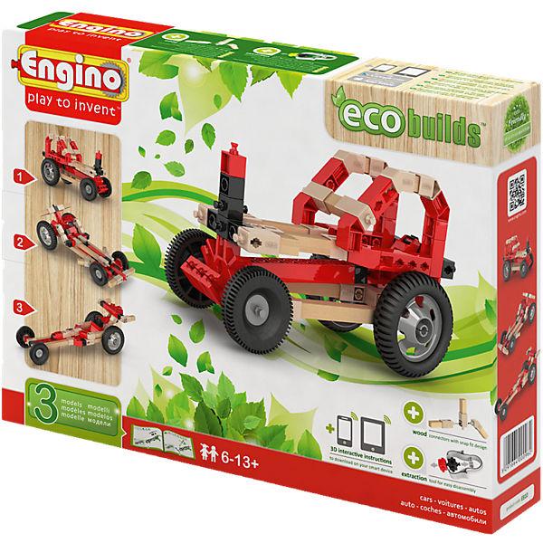 Engino ECO Rennwagen mit Holzbauelementen,