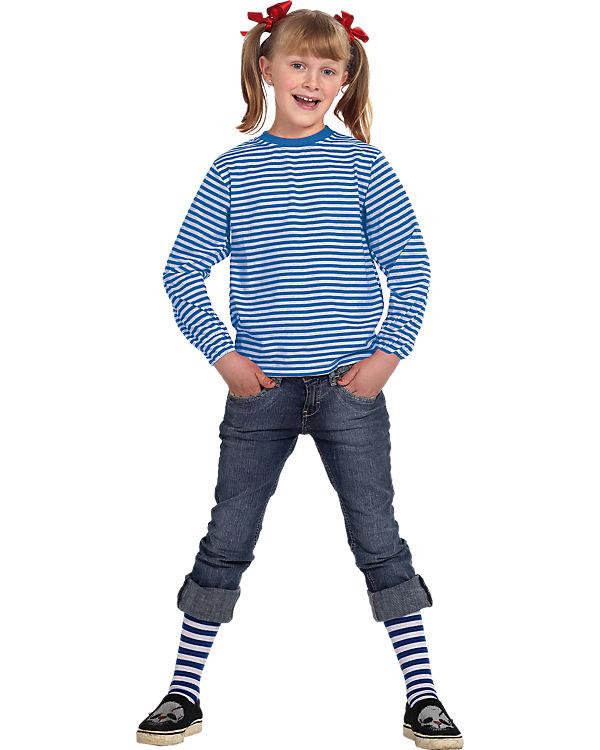 237f45c6fbd792 Kostüm Ringelshirt langarm garngefärbt blau weiß