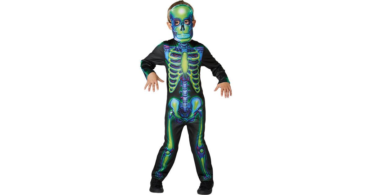 Kostüm Neon Skeleton grün Gr. 116/128 Jungen Kinder