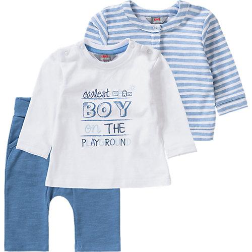 KANZ Baby Set Sweatjacke + Langarmshirt + Softbundhose Gr. 86 Jungen Kleinkinder | 04056178618291