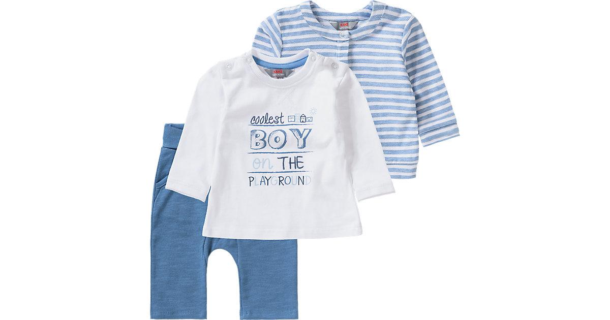 KANZ · Baby Set Sweatjacke + Langarmshirt + Softbundhose Gr. 86 Jungen Kleinkinder