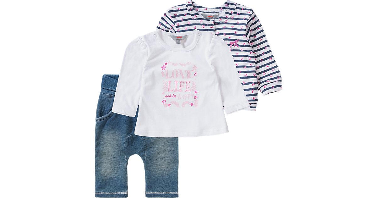 KANZ · Baby Set Jerseyjacke + Langarmshirt + Softbundhose , Blumen Gr. 92 Mädchen Kleinkinder