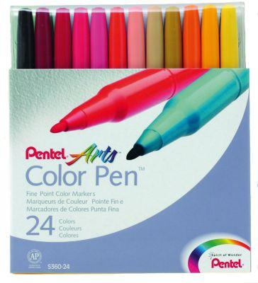Фломастеры 24 цвета Color Pen Pentel