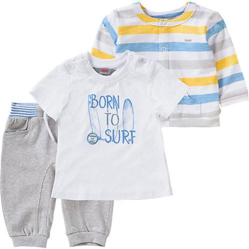 Baby Set Sweatjacke + T-Shirt + Sweathose Gr. 74 Jungen Baby | 04056178620812