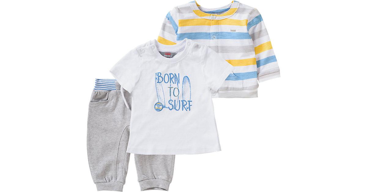 KANZ · Baby Set Sweatjacke + T-Shirt + Sweathose Gr. 86 Jungen Kleinkinder