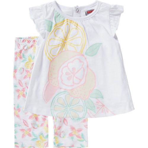 KANZ Baby Set Jerseykleid + Leggings Gr. 92 Mädchen Kleinkinder | 04056178615207
