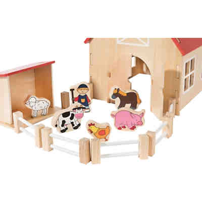 a9d805e69ceed4 myToys Holzbauernhof mit Spielfiguren myToys Holzbauernhof mit Spielfiguren  2