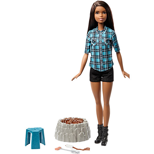 Кукла у костра Barbie Брюнетка