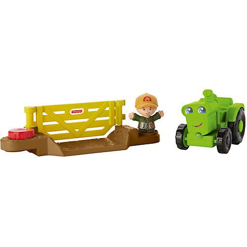 Транспортное средство Fisher-Price Little People Helpful Harvester Tractor от Mattel