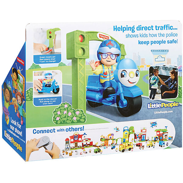 Транспортное средство Fisher-Price Little People Stop&Go Police Motorcycle