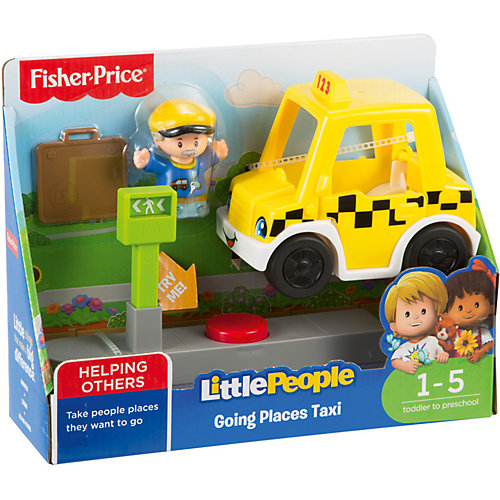 Транспортное средство Fisher-Price Little People Going Places Taxi от Mattel