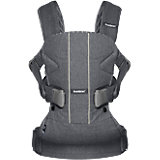 Рюкзак-переноска BabyBjorn ONE Soft Cotton Mix, серый
