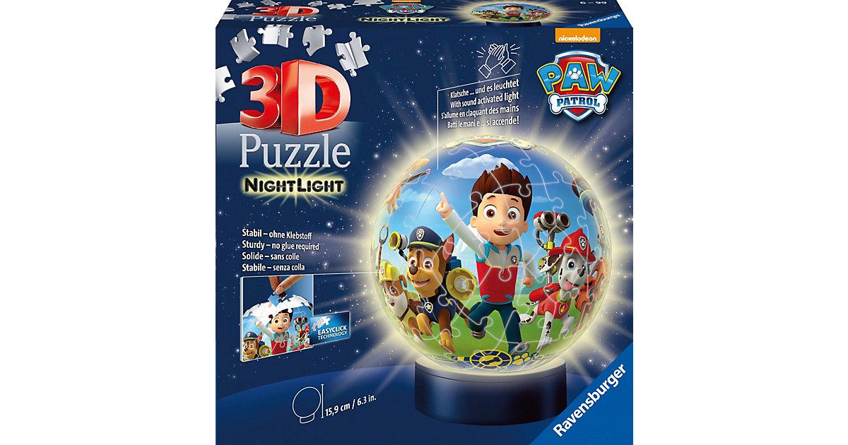 2in1 Nachtlich & puzzleball® Ø13 cm, 72 Teile , PAW Patrol
