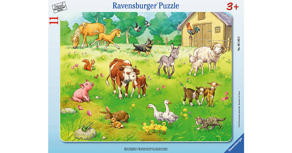 Rahmenpuzzle 11 Teile Meine Lieblingstiere