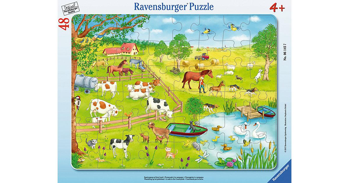 Rahmen-Puzzle, 48 Teile, 32,5x24,5 cm, Spaziergang auf dem Land