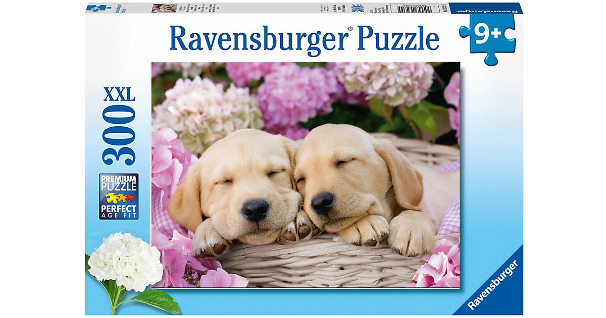 Süße Hunde im Körbchen 300 Teile Puzzle