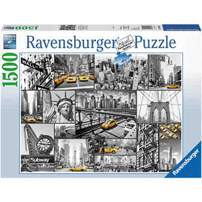 Puzzle 1500 Teile, 80x60 cm, Farbtupfer in New YorkPuzzle