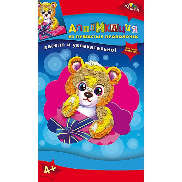 Набор для детского творчества Аппликация в подарок Медвежонок, Попугай, Черепашка, Хамелеон