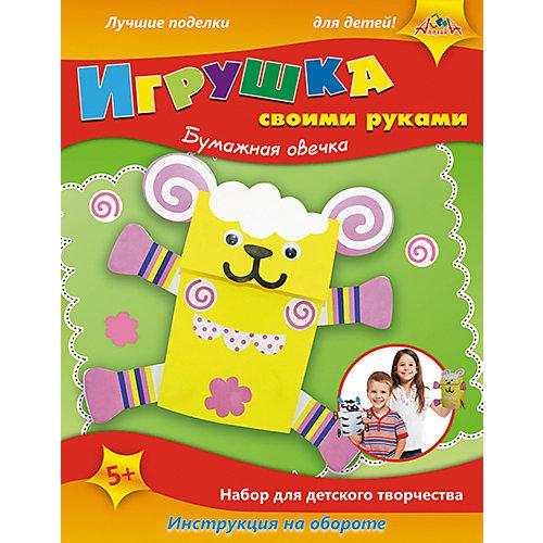 Набор для детского творчества Игрушки своими руками Бумажные Зебра, Кот и Бегемот от АппликА