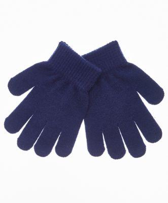 Перчатки вязаные Button Blue для девочки - темно-синий