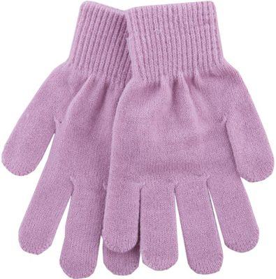 Перчатки вязаные Button Blue для девочки - розовый