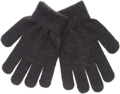 Перчатки вязаные Button Blue для мальчика - темно-серый