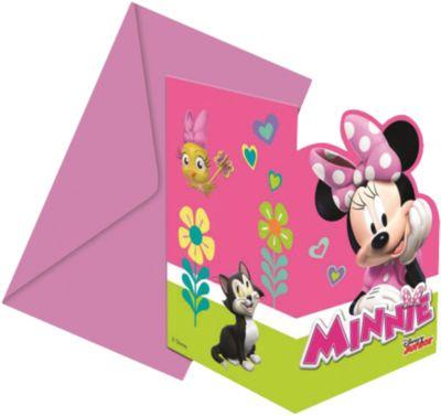Einladungskarten Minnie Happy Helpers, 12 Tlg.