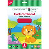 Бархатный картон А4 Greenwich Line 5 цветов 5 листов